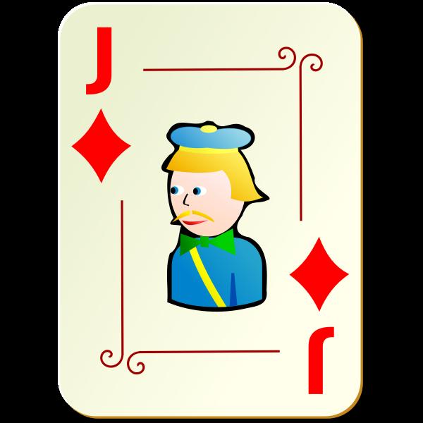 Joker of diamonds vector illustration