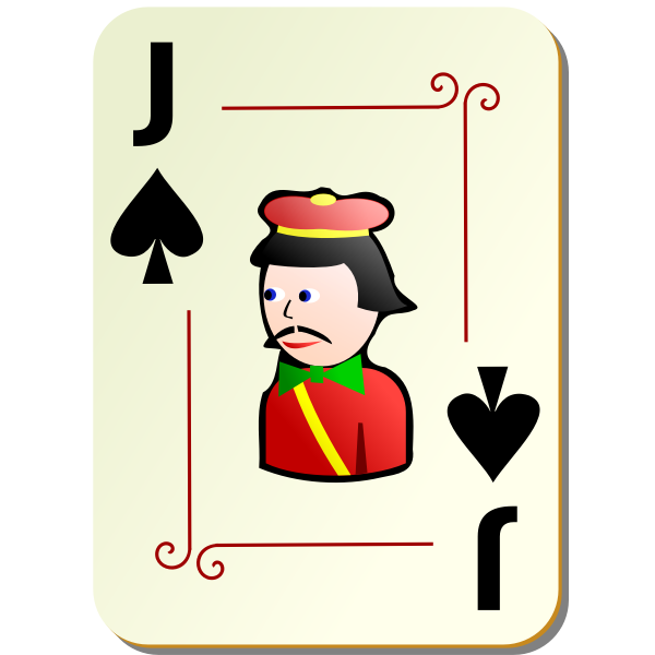 Jack of spades playing card vector illustration