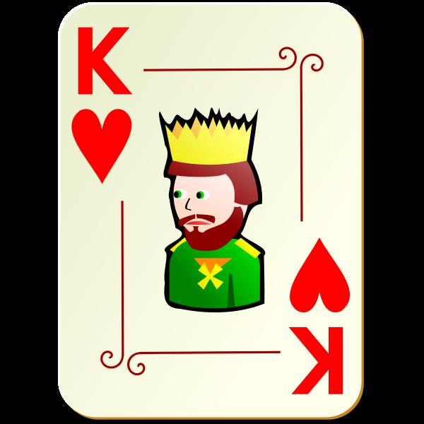 King of hearts vector illustration