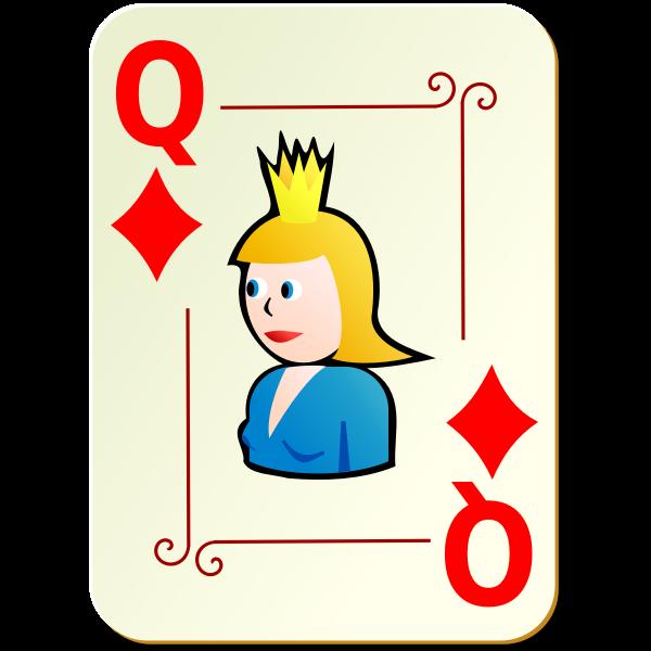 Queen of diamonds vector clip art