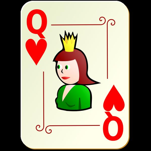 Queen of hearts vector clip art