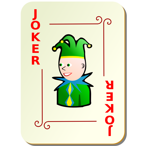 Red Joker playing card vector image