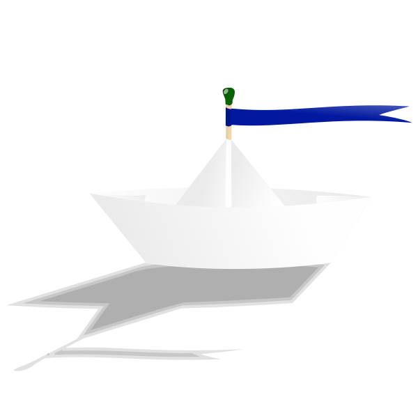 Paper boat vector drawing