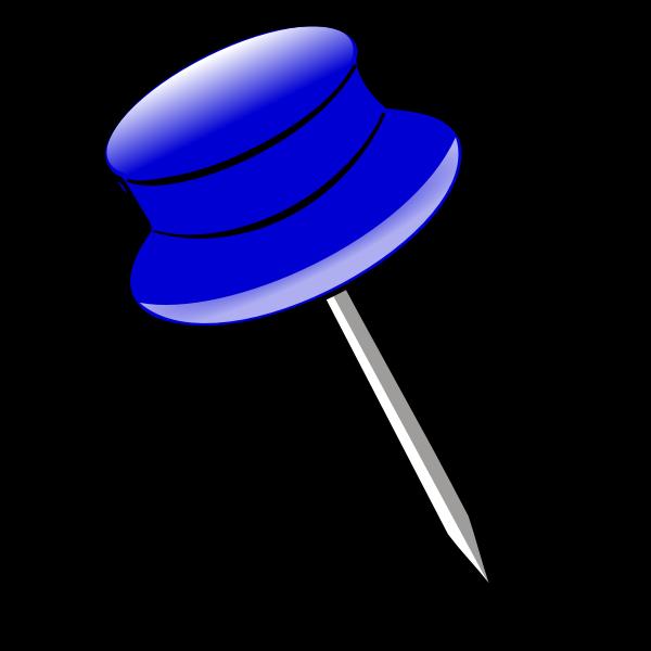 Vector clip art of a pin
