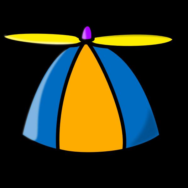 Propeller hat vector drawing