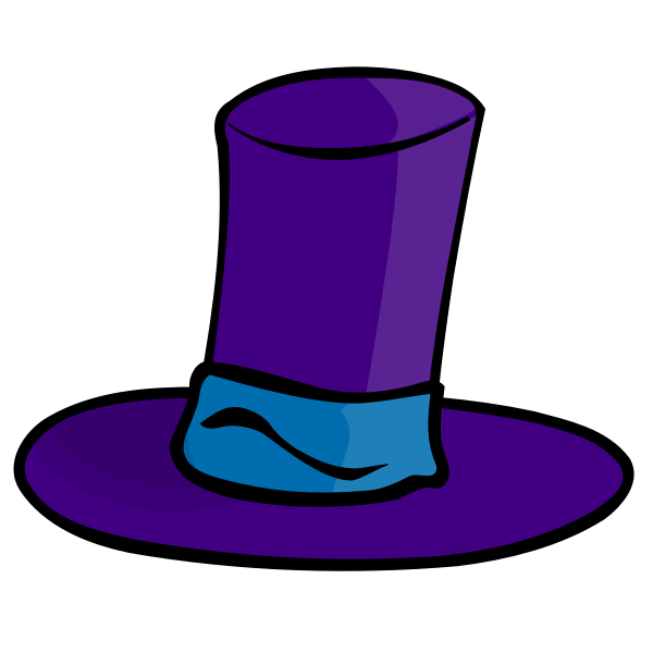Purple hat vector image