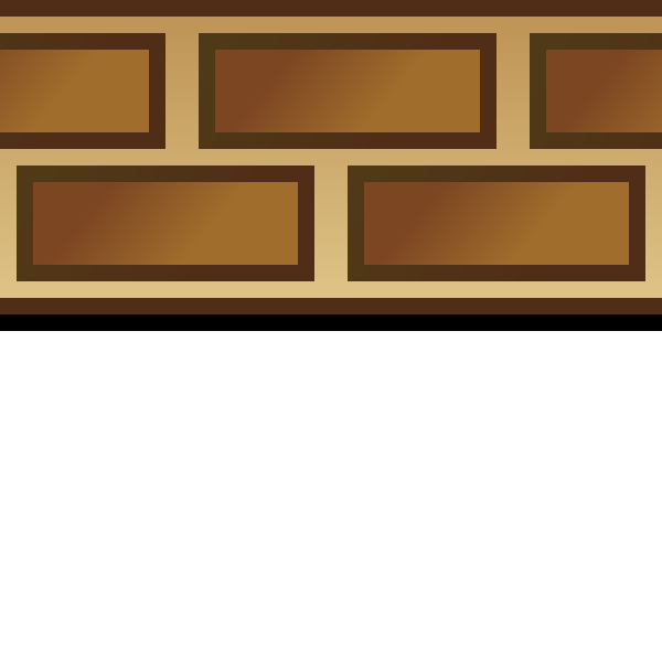 Brown brick border detail vector image