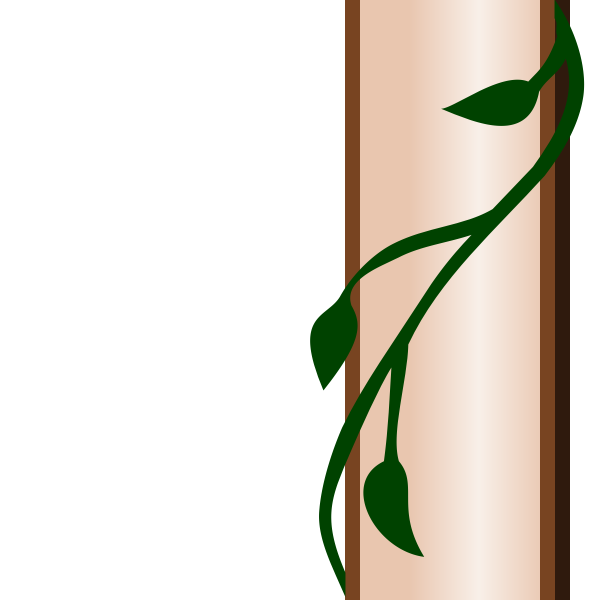 Pillar with ivy branch border detail vector image