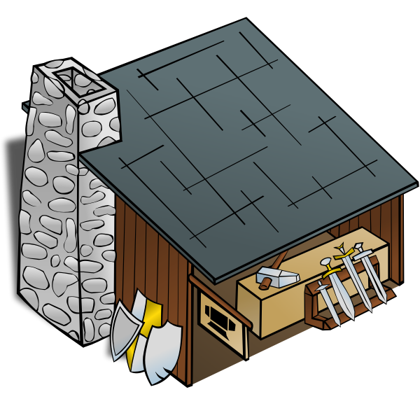 Blacksmith's shop vector