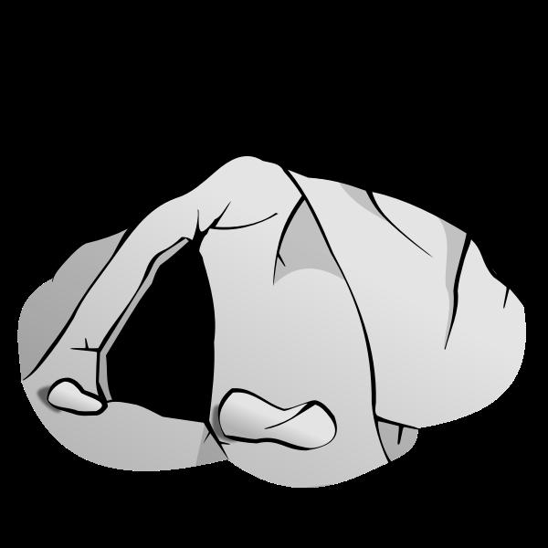 Cave entrance RPG map symbol vector image