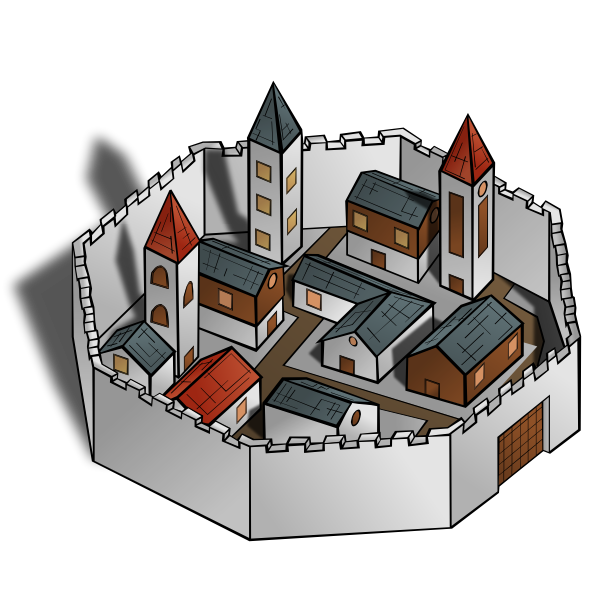 Ancient City Vector Image