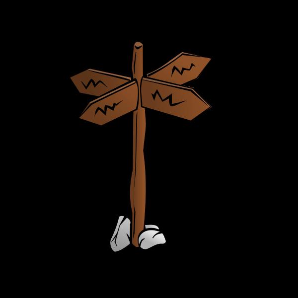 Crossroads sign vector image