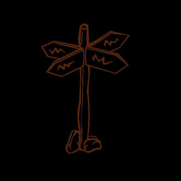 Crossroads sign vector illustration
