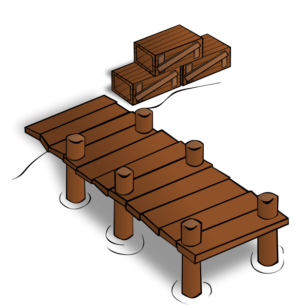 Wooden docks vector