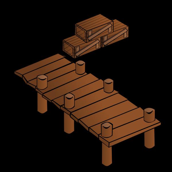 Wooden docks vector