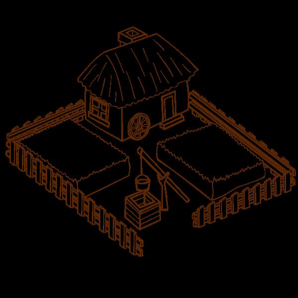 Farm RPG map symbol vector image