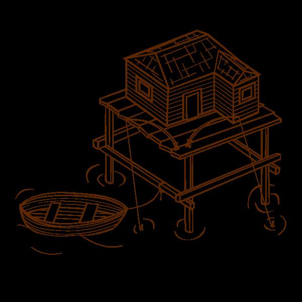 Fishery RPG map symbol vector image