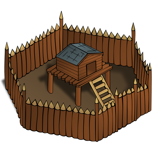 Fort vector image
