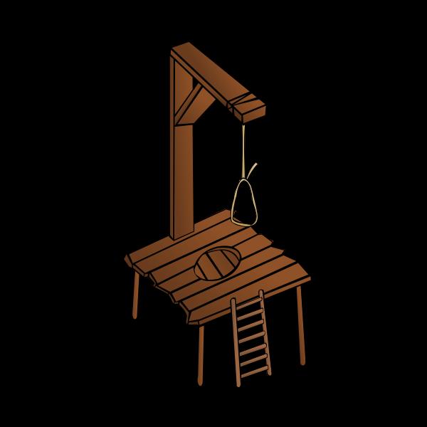 Gallows RPG map symbol vector image