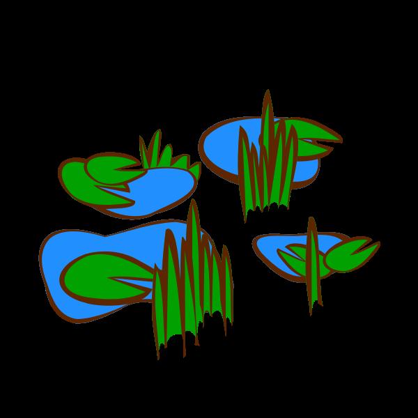 Marsh RPG map symbol vector image