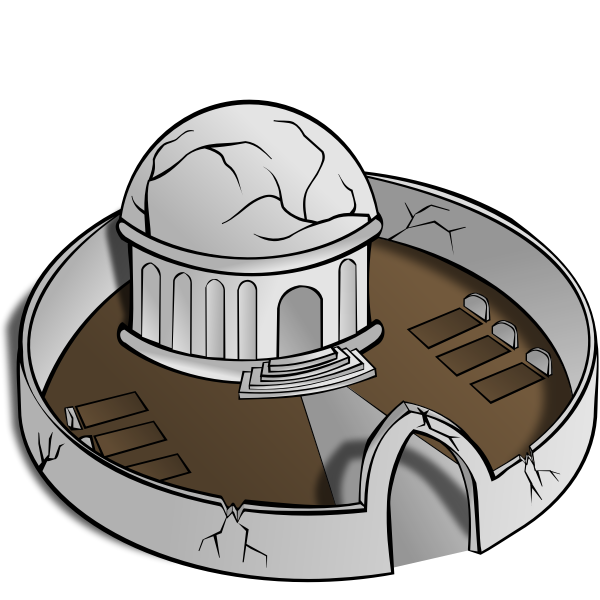 Monastery vector image