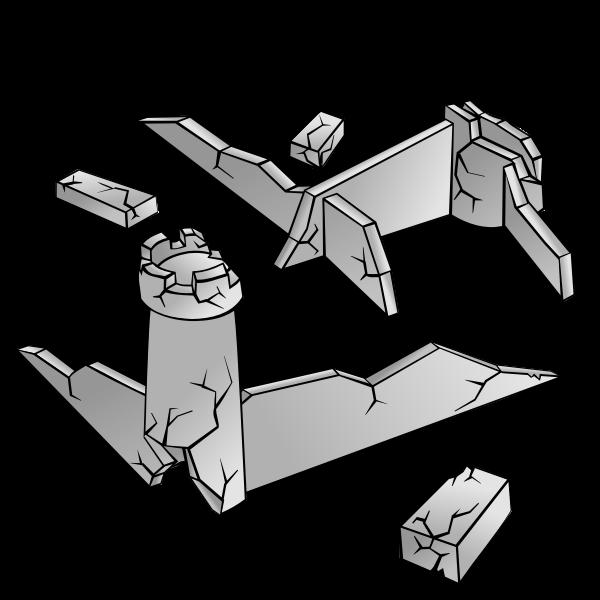 Ruins vector image