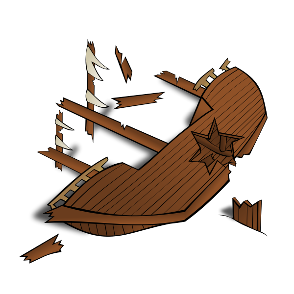 Shipwreck vector image