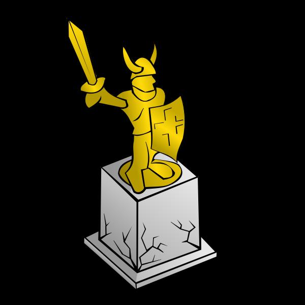 Statue map symbol vector