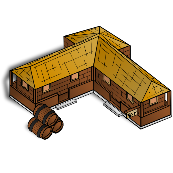 Tavern map vector symbol