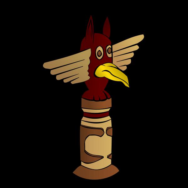 Totem RPG map symbol vector image