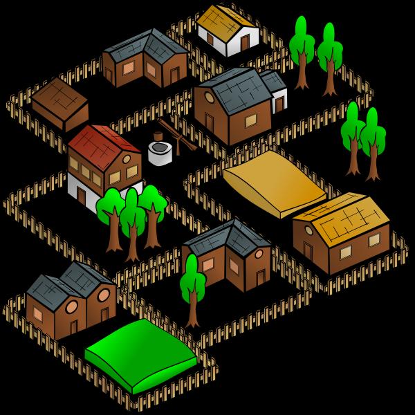 Village vector map symbol