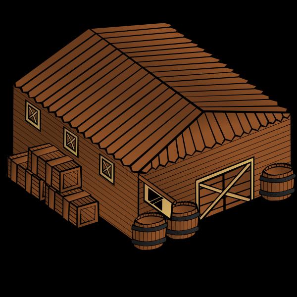 Warehouse vector symbol