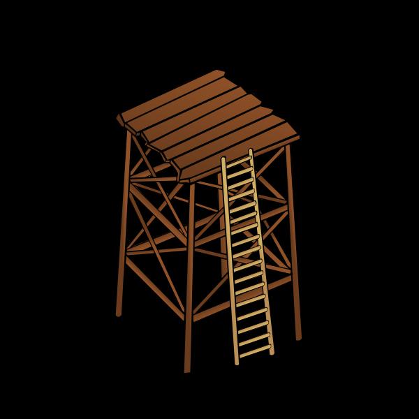 Watchtower vector symbol