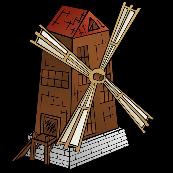 Windmill vector symbol