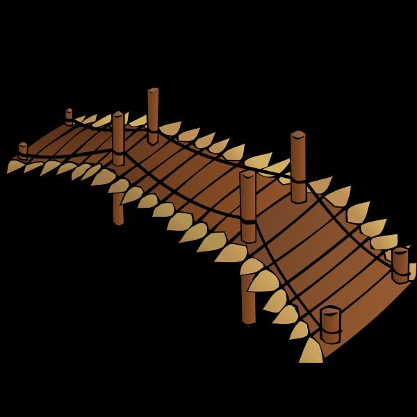 Wooden bridge RPG map symbol vector clip art