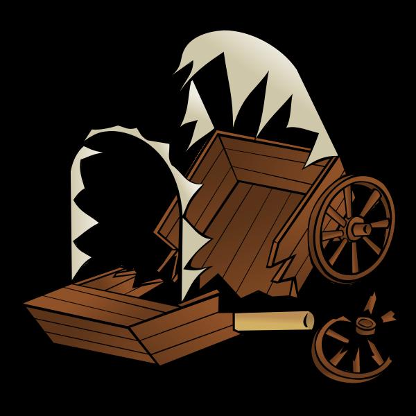 Caravan wreck RPG map symbol vector drawing