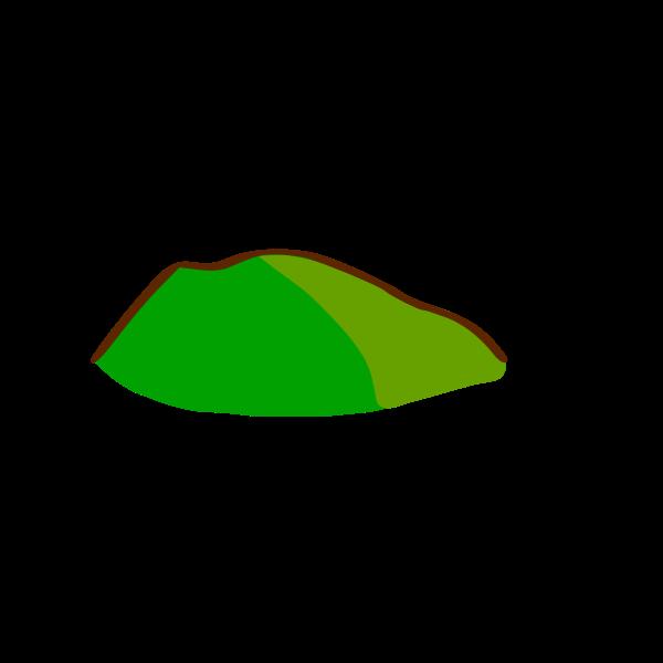 Green hill map element vector clip art