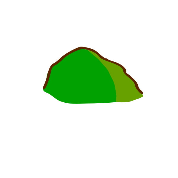 Hill map element vector drawing