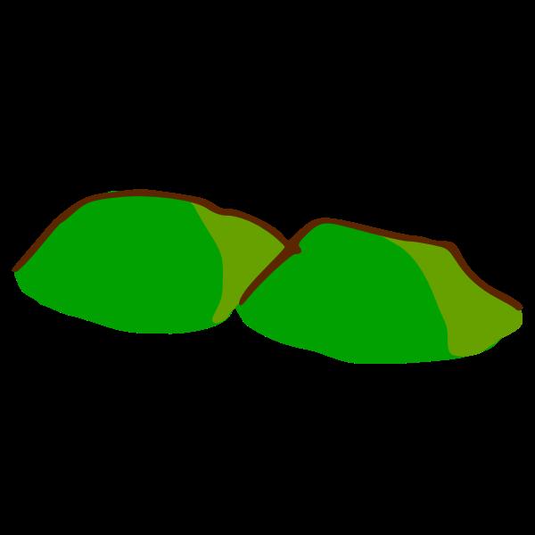 Green hills map element vector illustration
