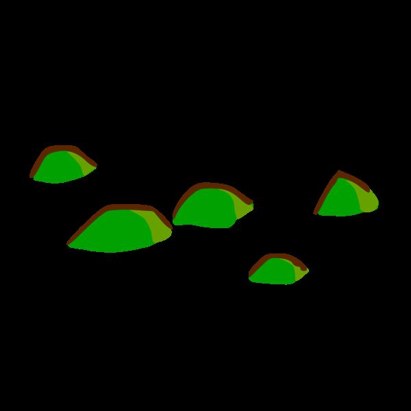 Hills map element vector clip art