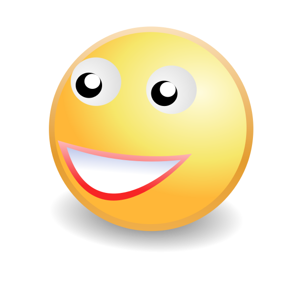 Cheeky smile smiley face icon vector image