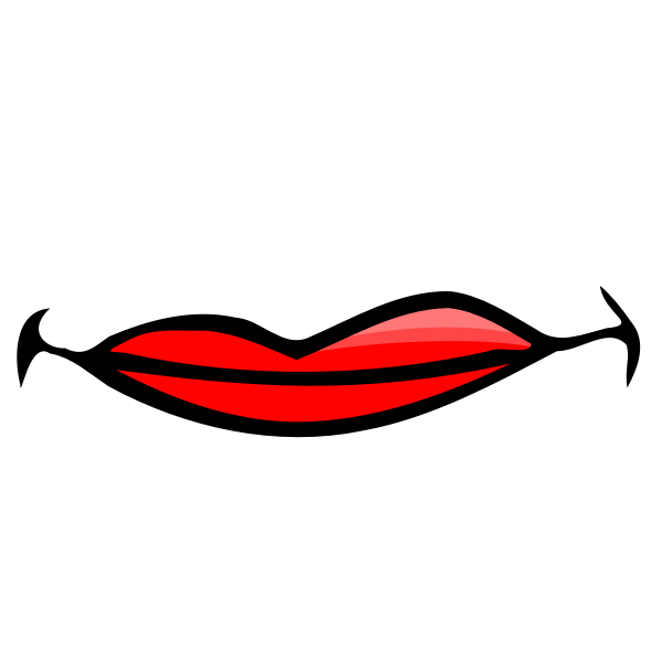 Red female lips vector image