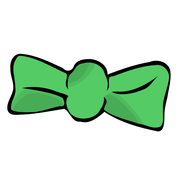 Bow tie vector drawing