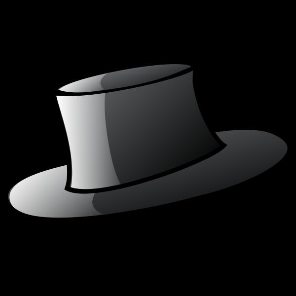Top hat vector graphics