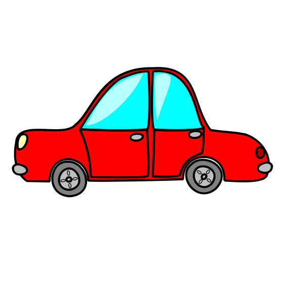 Toy car vector clip art image