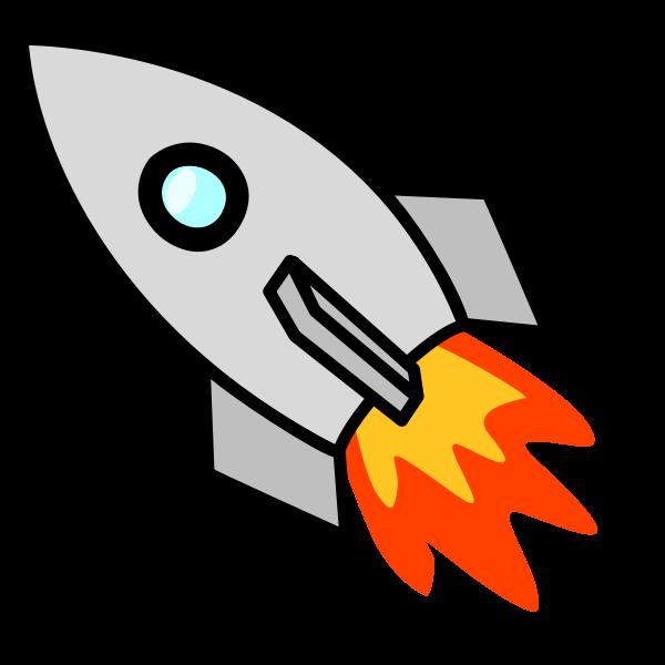 Toy rocket vector clip art