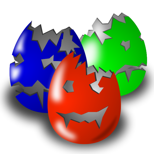 Scary Easter eggs vector image