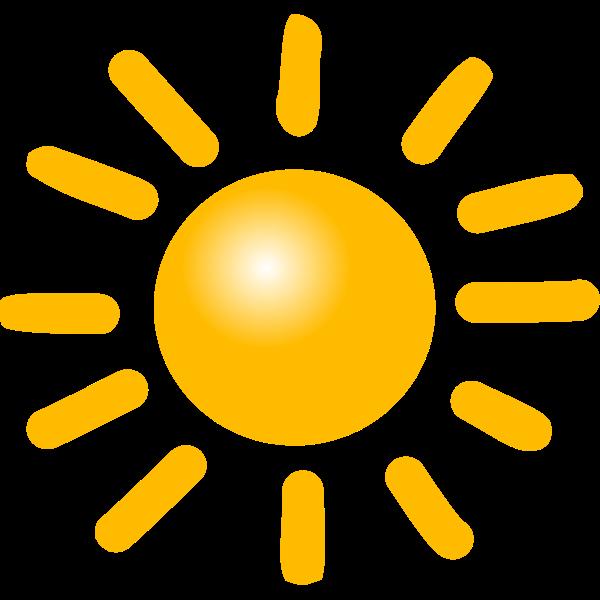 Bright sun vector drawing