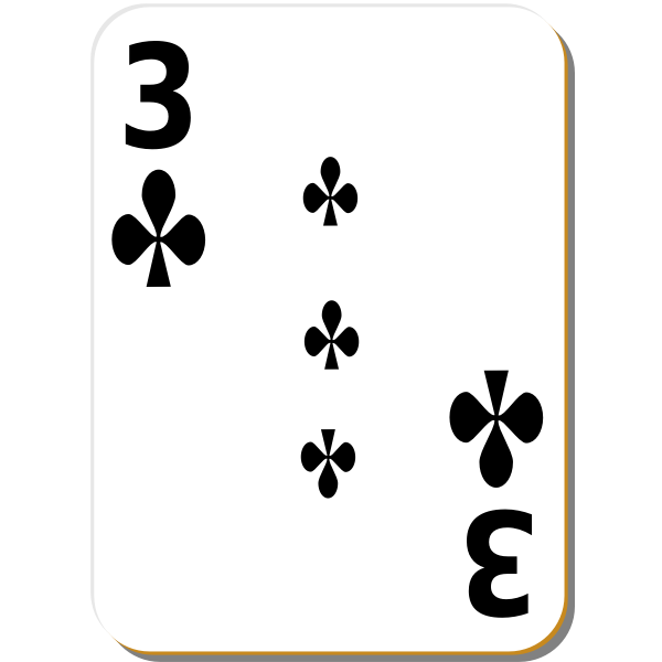 Three of clubs vector image