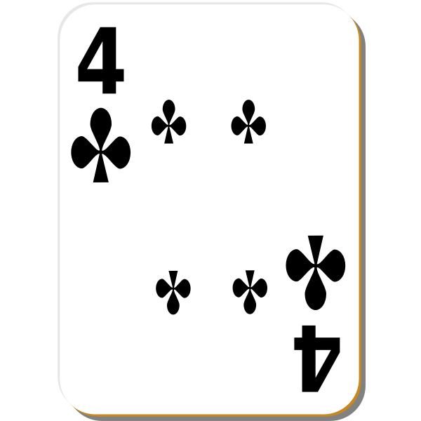Four of clubs vector illustration